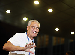 June 25, 2018 - Moscou, Rússia - MOSCOU, MO - 25.06.2018: ARRIVAL OF THE SELECTION IN MOSCOW - Tite coach of the Brazilian Soccer Team arrives with a crowd at the door of the Renaissance hotel in Moscow on Monday (25) (Credit Image: © Rodolfo Buhrer/Fotoarena via ZUMA Press)
