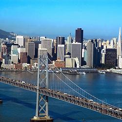 Aerial view of San Francisco Bay Bridge
