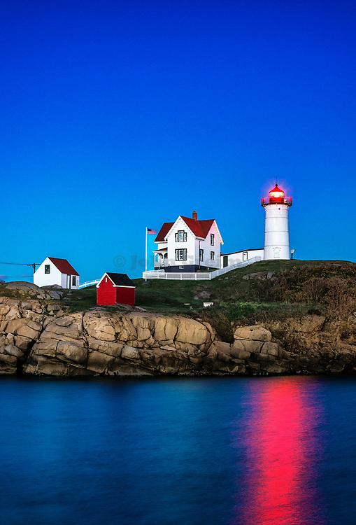 Nubble Lighthouse, Cape Neddick, York, Maine, USA.