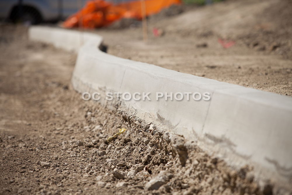 Construction Site with a Fresh New Curb
