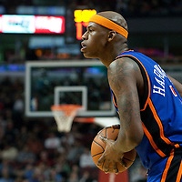 17 December 2009: New York Knicks forward Al Harrington looks for a teammate during the Chicago Bulls 98-89 victory over the New York Knicks at the United Center, in Chicago, Illinois, USA.