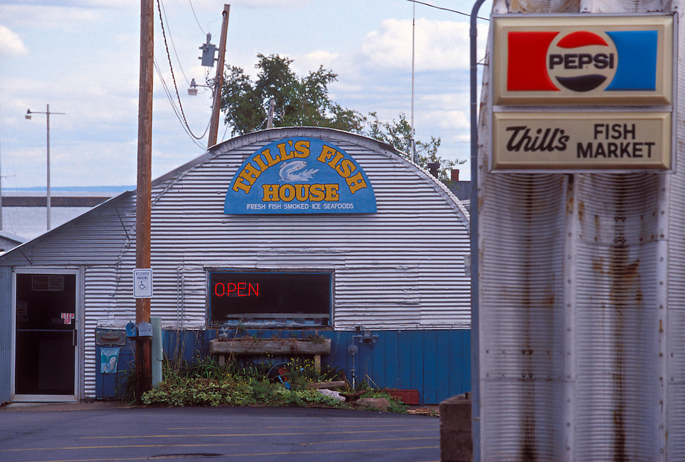 Thill's Fish House on the waterfront of Marquette, Mich.