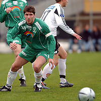 Fotball 2. div. 02.05.05, RBK 2 - Innstranden,<br /> Kristian Haugbakk<br /> Foto: Carl-Erik Eriksson, Digitalsport