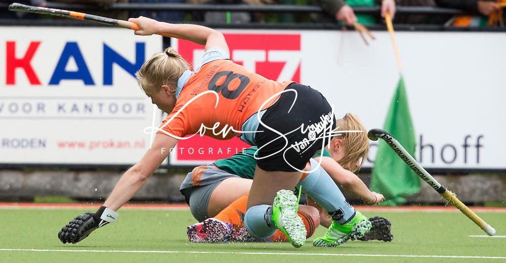 HAREN - Hockey - Blijke Wessels van Groningen.   Groningen (GHHC) wint de promotiewedstrijd naar de hoofdklasse van Were Di (1-0). .COPYRIGHT KOEN SUYK