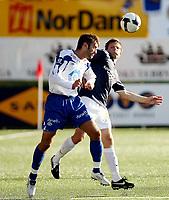 Fotball <br /> Tippeligaen<br /> Marienlyst Stadion<br /> 20.07.08<br /> Strømsgodset  v  Molde  4-0<br /> Foto: Dagfinn Limoseth, Digitalsport<br /> Kristian Sørli  , Strømsgodset og Magne Hoseth , Molde