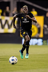 May 9, 2018 - Columbus, OH, U.S. - COLUMBUS, OH - MAY 09: Columbus Crew forward Gyasi Zerdes (11) sprints for the ball in the MLS regular season game between the Columbus Crew SC and the Philadelphia Union on May 09, 2018 at Mapfre Stadium in Columbus, OH. The Crew won 1-0. (Photo by Adam Lacy/Icon Sportswire) (Credit Image: © Adam Lacy/Icon SMI via ZUMA Press)