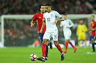 Jesse Lingard of England in action. England v Spain, Football international friendly at Wembley Stadium in London on Tuesday 15th November 2016.<br /> pic by John Patrick Fletcher, Andrew Orchard sports photography.