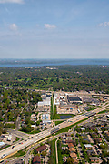 Over Madison and Fitchburg, Wisconsin, along Highway 151 and 12/14.