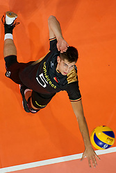 23-09-2019 NED: EC Volleyball 2019 Poland - Germany, Apeldoorn<br /> 1/4 final EC Volleyball - Poland win 3-0 / Moritz Reichert #5 of Germany