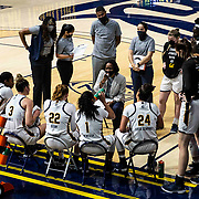 Jan 10, 2021 Berkeley, CA  U.S.A.  California head coach Charmin Smith during a team time out at the NCAA Women's Basketball game between Oregon Ducks and the California Golden Bears 41-100 lost at Hass Pavilion Berkeley Calif.  Thurman James / CSM