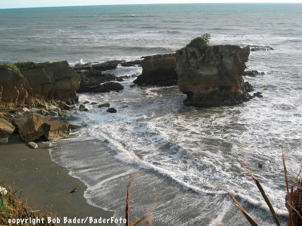 Punkaiki Beach in Paparoa National Park, South Island, New Zealand