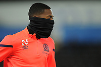 Blackburn Rovers' Tosin Adarabioyo during the pre-match warm-up <br /> <br /> Photographer Kevin Barnes/CameraSport<br /> <br /> The EFL Sky Bet Championship - Swansea City v Blackburn Rovers - Wednesday 11th December 2019 - Liberty Stadium - Swansea<br /> <br /> World Copyright © 2019 CameraSport. All rights reserved. 43 Linden Ave. Countesthorpe. Leicester. England. LE8 5PG - Tel: +44 (0) 116 277 4147 - admin@camerasport.com - www.camerasport.com