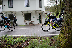 Dalia Muccioli (ITA) of Valcar-Cylance Cycling Team rides mid-pack during the Liege-Bastogne-Liege Femmes - a 138.5 km road race, between Bastogne and Liege on April 28, 2019, in Wallonie, Belgium. (Photo by Balint Hamvas/Velofocus.com)