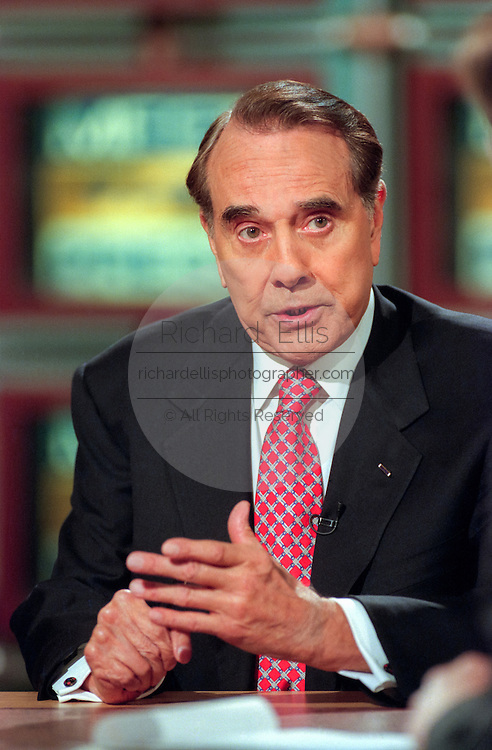 Former U.S. Senator and Special Envoy to Kosovo Bob Dole discusses the crisis in the region following the failure to secure a peace agreement during NBC's Meet the Press March 21, 1999 in Washington, DC.
