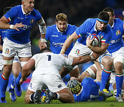 March 9, 2019 - London, England, United Kingdom - London, ENGLAND, 9th March .Jake Polledri of Italy .during the Guinness 6 Nations Rugby match between England and Italy at Twickenham  stadium in Twickenham  England on 9th March 2019. (Credit Image: © Action Foto Sport/NurPhoto via ZUMA Press)