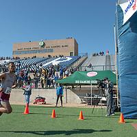 Sandia Prep senior Epherem Zerai finish first overall in the 3A boys New Mexico State Championship meet In Rio Rancho on Saturday.