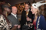 ZAINAB SOKONA; JAMIE WHYTE; JIM CHEOROS; ROWAN PELLING,, Sotheby's Erotic sale cocktail party, Sothebys. London. 14 February 2018