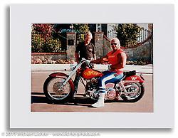 Arlen with Hulk Hogan on his Hulkster. Newport Beach, CA. ©1984 Ness Family Photo Archive