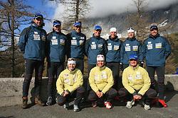 Slovenian Biathlon Team at Dachstein glacier before new season 2008/2009, Austria, on October 30, 2008.  (Photo by Vid Ponikvar / Sportida)