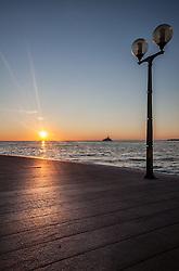 THEMENBILD - URLAUB IN KROATIEN, Sonnenuntergang aus Sicht der Ufer Promenade, aufgenommen am 03.07.2014 in Porec, Kroatien // Sunset view from the seaside promenade at Porec, Croatia on 2014/07/03. EXPA Pictures © 2014, PhotoCredit: EXPA/ JFK