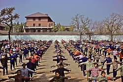Students Doing Morning Exercises