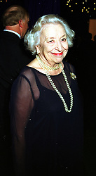 LADY SCOTT-HOPKINS at a ball in London on 26th November 1999.MZL 25