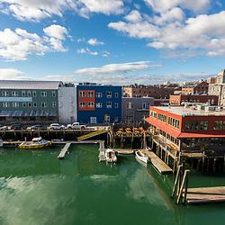 The Maine Wharf in Portland, Maine.