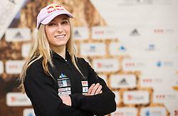 Janja Garnbret at press conference of Slovenian National Climbing team before new season, on March 23, 2021 in Bolder Scena, Ljubljana, Slovenia. Photo by Vid Ponikvar / Sportida