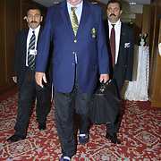 UEFA Executive Committee holds successful Istanbul meeting. His toenails broken because of that he was walking with slepers Lennart Johansson.<br /> Photo by Aykut AKICI/TurkSporFoto