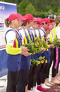 Poznan, POLAND.   2004 FISA World Cup, Malta Lake Course.  <br /> <br /> Women's eight Final GER W8+<br /> <br /> 09.05.2004<br /> <br /> [Mandatory Credit:Peter SPURRIER/Intersport Images]