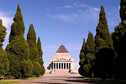 Shrine of Remembrance in central Melbourne Australia