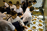 Staff arrange orders for patrons at El Bulli, restaurant, located near Rosas on the Costa Brava in northern Spain.