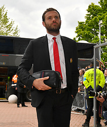 Manchester United's Juan Mata arrives ahaed of the Premier League match at the John Smith's Stadium, Huddersfield.