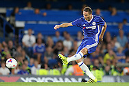 Nemanja Matić of Chelsea taking a shot. EFL Cup 2nd round match, Chelsea v Bristol Rovers at Stamford Bridge in London on Tuesday 23rd August 2016.<br /> pic by John Patrick Fletcher, Andrew Orchard sports photography.