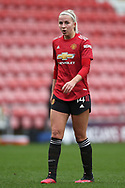 Manchester United midfielder Jackie Groden (14) Portrait full length during the FA Women's Super League match between Manchester United Women and Manchester City Women at Leigh Sports Village, Leigh, United Kingdom on 14 November 2020.