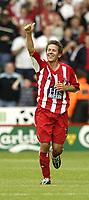 Fotball<br /> Foto: Fotosports/Digitalsport<br /> NORWAY ONLY<br /> <br /> Date: 29/08/2004<br /> <br /> Sheffield United v Leeds United<br /> Coca Cola Championship<br /> <br /> Sheffield's John Harley celebrates his goal and teams second