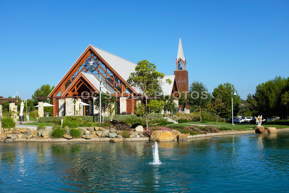 Man Made Lake in Front of Mariners Church Chapel