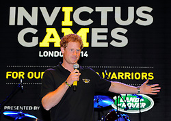His Royal Highness, Prince Harry speaks at the Winfield Reception - Photo mandatory by-line: Joe Meredith/JMP - Mobile: 07966 386802 - 9/09/14 - Winfield reception for the Invictus Games - London - Winfield House