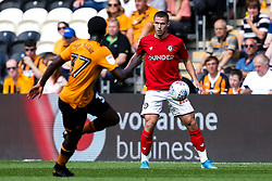 Tommy Rowe of Bristol City takes on Leo Da Silva Lopes of Hull City - Mandatory by-line: Robbie Stephenson/JMP - 24/08/2019 - FOOTBALL - KCOM Stadium - Hull, England - Hull City v Bristol City - Sky Bet Championship