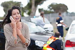 Woman crying after car accident (Credit Image: © Image Source/Albert Van Rosendaa/Image Source/ZUMAPRESS.com)