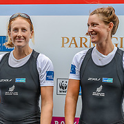 NZL W2- (b) Louise TRAPPITT (s) Rebecca SCOWN – 3rd place 6:54.79 SAT 30 AUG 2014<br /> <br /> Crews racing the World Championships on The Bosbaan, Amsterdam, The Netherlands, 29/30/31 August 2014  Copyright photo © Steve McArthur / @rowingcelebration www.rowingcelebration.com