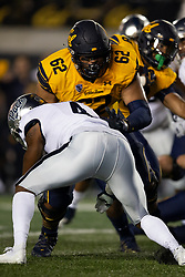 California guard Ben Coleman (62) blocks Nevada defensive back A.J. King (4) during the first quarter of an NCAA college football game, Saturday, Sept. 4, 2021, in Berkeley, Calif. (AP Photo/D. Ross Cameron)