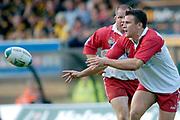 Wycombe. GREAT BRITAIN, 24th October 2004 <br /> Heineken Cup Rugby, London Wasps v Biarritz,  Adams Park, ENGLAND. Photo, Peter Spurrier/Intersport-images]<br /> Biarritz's fly half Julien Peyrelongue<br /> ,