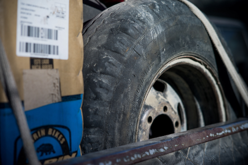 Afghan jeep, spare tyre.