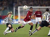 Roma 8/2/2004 Roma Juventus 4-0<br />Pavel Nedved (Juventus) and Amantino Mancini (Roma)<br />Photo Andrea Staccioli Graffiti