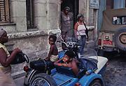 During the embargo in 1992 many starved. Streetscene in central Havana.
