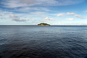Sarushima Island in Tokyo Bay seen from Umikaze Park in Yokosuka