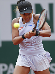 May 30, 2019, Paris, France: NAOMI OSAKA of Japan in action against V. Azarenka of Belarus during their match at the French Open at Roland Garros in Paris, France. Osaka won 4:6, 7:5, 6:3. (Credit Image: © Xinhua via ZUMA Wire)