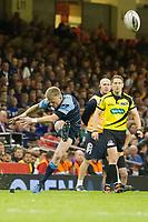 Rugby Union - 2016 / 2017 Pro12 - [Judgement Day V]: Cardiff Blues vs. Ospreys<br /> <br /> Gareth Anscombe  of Cardiff kicks a conversion, at Principality Stadium [Millennium Stadium], Cardiff.<br /> <br /> COLORSPORT/WINSTON BYNORTH
