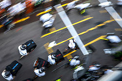 May 25, 2018 - Monte Carlo, Monaco - Motorsports: FIA Formula One World Championship 2018, Grand Prix of Monaco, ..Mechanic of Mercedes AMG Petronas Motorsport during pit stop training  (Credit Image: © Hoch Zwei via ZUMA Wire)
